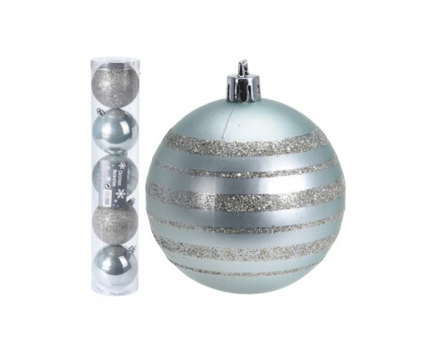 Kerstballen set 5x80mm Treasure