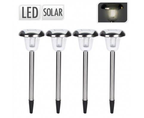 rvs solar tuinlampenset LED