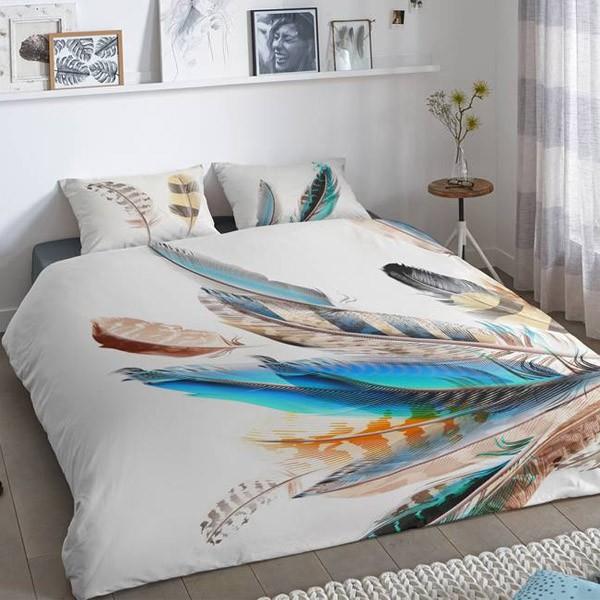 dekbedovertrek feather perfect deal. Black Bedroom Furniture Sets. Home Design Ideas