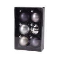 Kerstballen set 6x65mm Winter Lodge