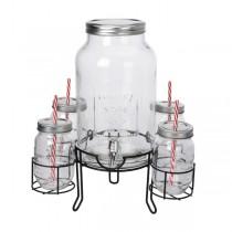Drankdispenser / Limonadekan met glazen 4500ml