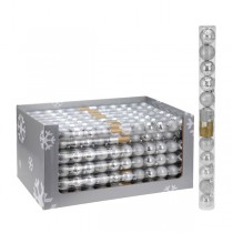 Kerstballen set 12x50mm Silver