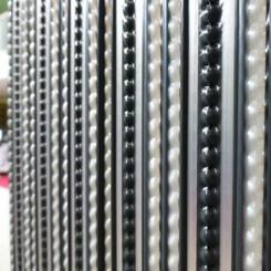 Deurgordijn PVC Tris Antraciet/grijs