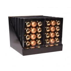 Kerstballen set 15x45mm Goud