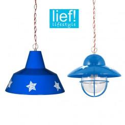Lief! hanglamp blauw sterren jongens