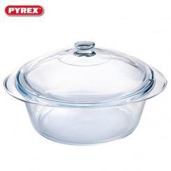Pyrex ovenschaal rond met deksel