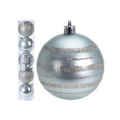 Kerstballen set 5x80mm Treasure